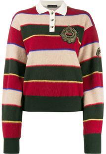 Etro Camisa Polo Listrada - Vermelho