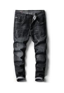Calça Jeans Masculina Slim - Preto