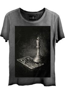Camiseta Skull Lab Caveira King Cinza