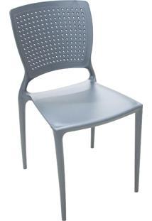 Cadeira Tramontina 92048007 Summa Safira Com Encosto Grafite