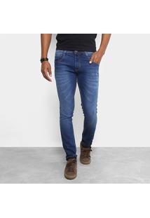 Calça Jeans Skinny Biotipo Escura Masculina - Masculino-Jeans