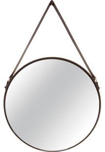 Espelho Preto Metal Preto Mart Collection