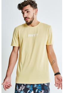 Camiseta Lettering Why?