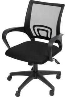 Cadeira Office Osorno Tela Mesh Preta Com Base Nylon Preta - 47406 - Sun House