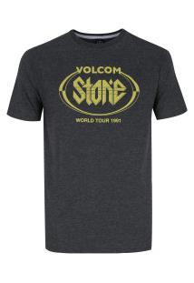 Camiseta Volcom Silk Stick It - Masculina - Preto Mescla