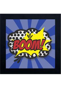 Quadro Decorativo Cartoon Boom - Azul & Amarelo- 29Xkapos