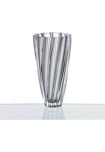 Vaso Cristal Scallop 30,5 Cm Bohemia