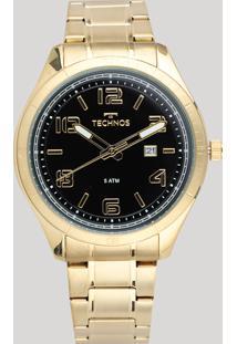 Relógio Analógico Technos Masculino - 2115Mpc4P Dourado - Único