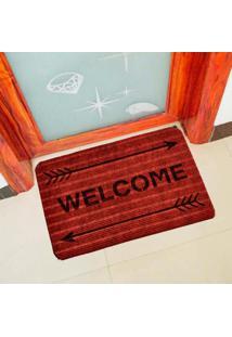 Capacho Carpet Welcome Com Flechas Vermelho