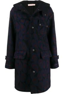 Marni Hooded Wool Coat - Preto