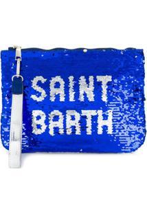 Mc2 Saint Barth Clutch Paris Com Paetês - Azul
