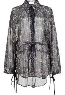 Chloé Blusa De Seda Estampada - Estampado