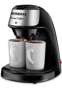 Cafeteira Elétrica Mondial Smart Coffee C-42-2X-B Preta 2 Xícaras - 127V