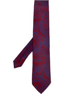 Etro Gravata Com Paisley - Vermelho