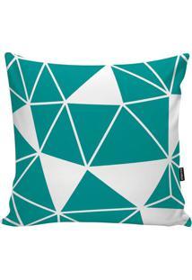 Capa Para Almofada Geometric- Verde Água & Branca- 4Stm Home