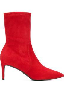 Stuart Weitzman Wren 75 Ankle Boots - Vermelho