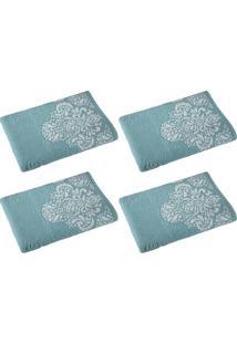 Kit Com 4 Toalhas De Banho Íris Azul Claro