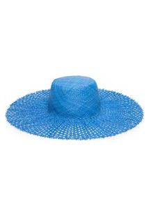 Chapéu Feminino Bardot - Azul