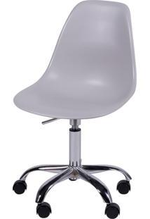 Cadeira Eames Dkr Rodízio Cinza Or Design