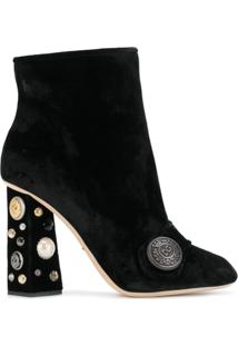 Dolce & Gabbana Bota 'Jackie' De Veludo - Preto