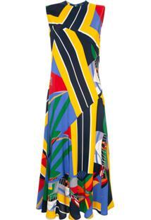 Polo Ralph Lauren Vestido Longo De Seda - Estampado