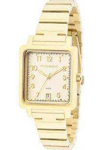 Relógio Feminino Technos 2115Kpj/4D Boutique Quadrado - Feminino-Dourado