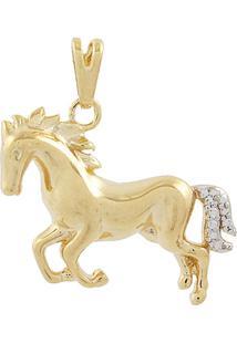 Pingente Narcizza Semijoias Cavalo Ouro