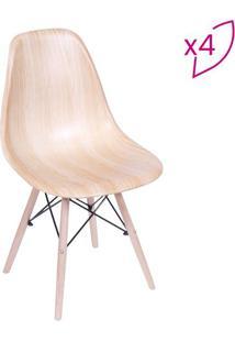 Jogo De Cadeiras Eames Dkr- Wood- 4Pã§S- Or Desigor Design
