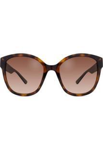 Óculos De Sol Polaroid Polarizado Pld Feminino - Feminino-Marrom