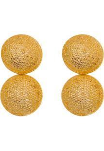 Par De Brinco Geométrico Banhado A Ouro- Dourado- 4Xpri Schiavinato