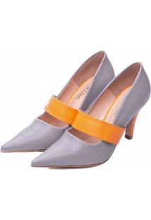 Sapato Scarpin Torricella Cinza - Kanui