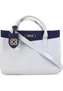 Bolsa Petite Jolie Shopper Mega Feminina - Feminino-Azul Navy