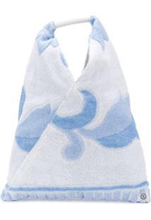 Mm6 Maison Margiela Bolsa Tote Com Aplicação Floral Japanese - Azul