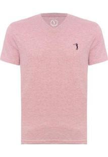 Camiseta Aleatory Gola V Básica Masculina - Masculino-Lilás