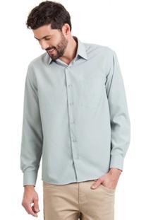 Camisa Di Sotti Microfibra Cinza Gelo - Masculino