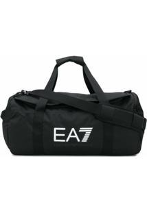 Ea7 Emporio Armani Mala Com Estampa De Logo - Preto