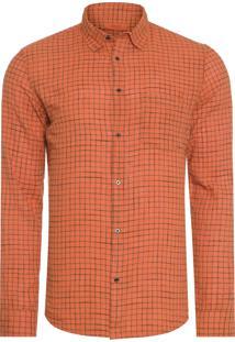 Camisa Masculina Riva Outline Color - Laranja