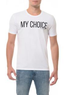 Camiseta Ckj Mc Estampa My Choice Branca Camiseta Ckj Mc Estampa My Choice - Branco 2 - Ggg