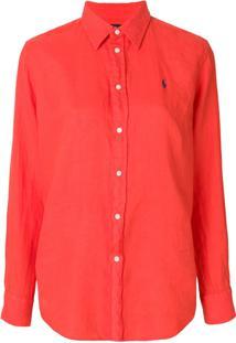 Camisa Pólo Vermelha feminina  e8a806a8dc2d2
