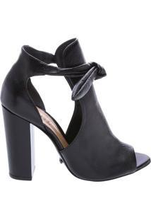 Open-Toe Boots Bow Black   Schutz