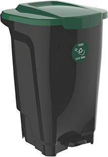 Lixeira Em Plastico T-Force Preto E Verde 100 Litros Tramontina 92814/209