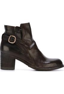 Officine Creative Ankle Boot De Couro 'Varda' - Marrom