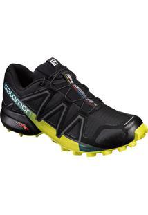 Tênis Salomon Masculino Speedcross 4 Preto/Lime 40