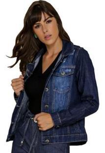 Jaqueta Jeans Zayon Tradicional Azul - Feminino