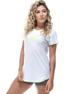 Camiseta Round Shatark Pact - Branco/Neon - Kanui