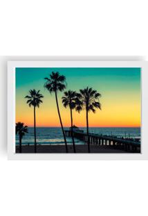 Quadro Love Decor Decorativo Com Moldura Por Do Sol Branco