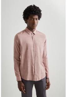 Camiseta Reserva Linho Masculino - Masculino-Rosa