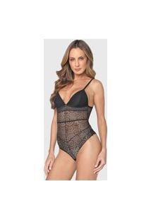 Body Colcci Underwear Renda Preto