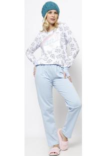 be915a9fa ... Pijama Ovelha- Branco   Azul Marinhoevanilda