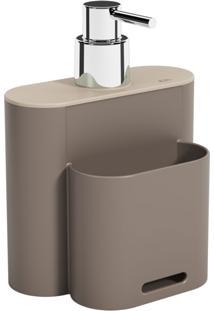 Dispenser Flat Coza Warm Gray E Light Gray Cinza - Cinza - Dafiti